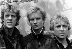 1983: The Police - Stewart Copeland, Sting And Andy Summers, The Gardens Club, Kensington, London.