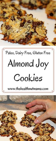 Paleo Almond Joy Cookies! Gluten Free, Dairy Free, Soy Free, Egg Free! So easy & delicious! Slap your mama good!