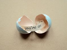 An utterly adorable - a DIY tutorial to include a message inside a decorated egg. I love it!