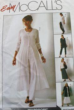 2004 Unlined Jacket Duster Top Skirt Pants by BluetreeSewingStudio