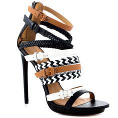 Jessie - Black White Sandal  L.A.M.B.  http://www.heels.com/womens-shoes/jessie-black-white.html