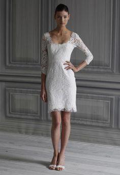 Elegant Short White Wedding Dress