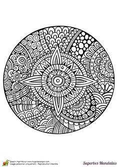 superbes mandalas circulaire
