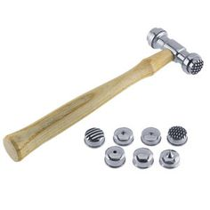 Metal TEXTURING HAMMER Set of 9 different attachments in 1 hammer. $39.00, via Etsy.    This is used to create interesting textures in pieces of metal.  I am saving up to purchase this tool.