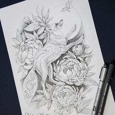 This is another picture for a new book! I have 2 versions of the picture. with a black background and no background. First I wanted to draw a fox. but then I remembered that the year of the dog was coming. so the picture is called: Dog and peonies. www.nadiyavasilkova.com #coloringpage #peonies #coloring #coloringbook #coloringforadults #coloringbookforadults #adultcolouring #colorfy #adultcolouringbook #coloredpencil #adultcoloringbookapp #colortherapy #colortherapyapp #momicoloring…