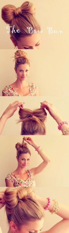 Bow Bun how to