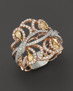 Bloomingdale's Yellow and White Diamond Band in 14K Rose, White and Yellow Gold, .85 ct. t.w. on shopstyle.com