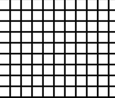 "Grid - Black and White (large 2"") by Andrea Lauren fabric by andrea_lauren on Spoonflower - custom fabric"