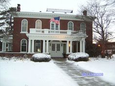 The Gaunt House in winter.