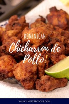 Dominican Chicharrones de Pollo aka Dominican Style Fried Chicken is a traditional Dominican dish thats an absolute favorite This authentic fried chicken recipe is easy t. Chicharones Recipe, Comida Boricua, Spanish Dishes, Spanish Food, Chicharrones, Comida Latina, Island Food, Fried Chicken Recipes, Caribbean Recipes