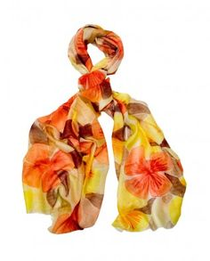 #Exclusivelyin, #IndianEthnicWear, #IndianWear, #Fashion, Cream Scarf with Flowers Printed