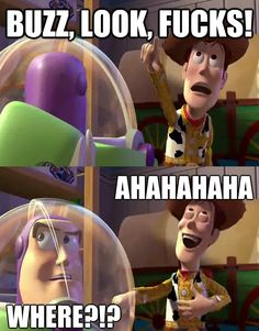 Toy Story Meme, Fun Buns, Cameron Dallas, Laughing So Hard, Teen Wolf, Funny Memes, Family Guy, Movie Posters, Woody