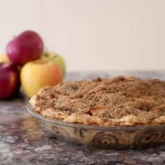 Dutch apple pie with cinnamon roll crust, beautiful and delicious.
