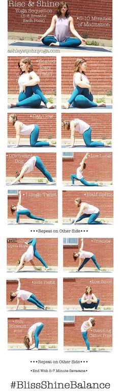 Rise & Shine AM Yoga Sequence http://ashleystjohnyoga.com