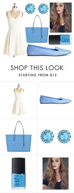 """#552"" by vanessa-m-108 ❤ liked on Polyvore featuring H&M, MICHAEL Michael Kors, Color My Life and NARS Cosmetics"