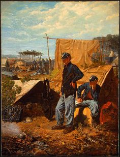 Home Sweet Home, 1863  by Winslow Homer (1836-1910) This and other works were created from Homer's experiences during the Civil War as an artist/correspondent.