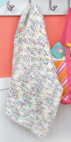 NEW LA75467 Blankets For Toddlers - On The Go Each of the 12 designs in Blankets for Toddlers is rated Beginner or Easy skill level and uses a simple one-row pattern repeat. The instructions also give you a choice of using one or two strands of medium weight yarn, so you can make a lightweight blanket or a heavier one.  http://www.maggiescrochet.com/products/blankets-for-toddlers