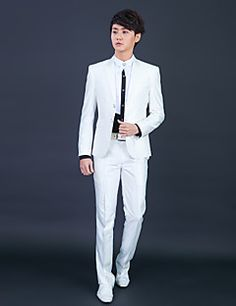 White+Polyester+Slim+Fit+Two-Piece+Tuxedo+–+USD+$+75.59
