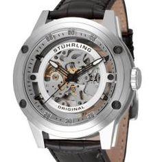 Stuhrling Original Men's Zeppelin 360 Automatic Skeleton Watch