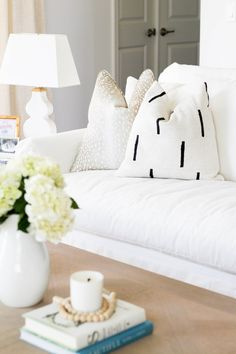 White Cream Interiors Light Airy Living Room Somethin Southern Blog Home