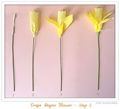 crepe paper daffodils on their way...