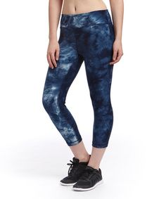 Another great find on #zulily! Indigo Tie-Dye Performance Capri Leggings by Active Core #zulilyfinds