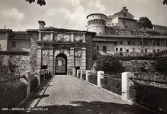 Ingresso del Castello - Brescia Immagine inviata da Giuseppe Sandoni http://www.bresciavintage.it/brescia-antica/cartoline/ingresso-del-castello-brescia/