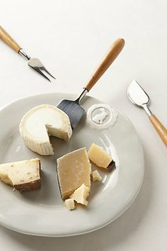 Teak Cheese Knives | Anthropologie #stockingstuffers #giftideas