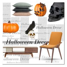 """Halloween Decor"" by ayelmaoki ❤ liked on Polyvore featuring interior, interiors, interior design, home, home decor, interior decorating, Oris, Design Within Reach, L'Objet and Improvements"