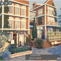 """Do you like old traditional style houses? I present my The Sims 4 Lot. No CC House! """"Study in Britechester"""" - Beautiful 3 storeys furnished two apartments in traditional style. Don't wait! Start your studies in great style! Creation by Moniamay72. Download from The Sims Resource. #TS4 #ts4lots #tsr #TheSims #sims4 #thesims4 #Moniamay72 #thesims4lots #architecture #nocc #TSR #modern #TheSimsResource  Sims 3 Apartment, Apartment Layout, The Sims 4 Lots, Sims House Design, Sims Building, Casas The Sims 4, Dutch House, Old Apartments, Sims 4 Build"""