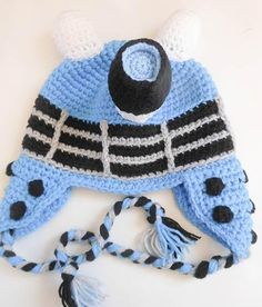 Looking for your next project? You're going to love Robot Dalek Inspired Hat by designer wistfullywoolen.