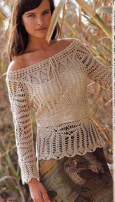 CROCHET BLOUSE.