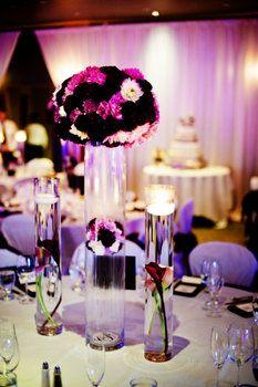 Wedding, Flowers, Reception, Centerpiece, Purple