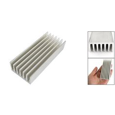 PROMOTION! Hot New 98 x 40 x 20mm Silver Tone Aluminium Heat Diffusion Cooling Fin