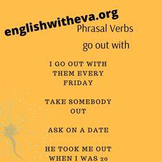 English Grammar Online, English Verbs, Take Me Out, Verbs In English