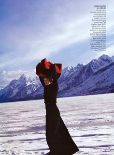 Karen Elson by Arthur Elgort in ed. Cowgirl Hall of Fame for Vogue US October 1999
