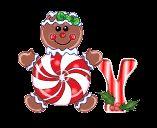 Alfabeto animado de golosinas navideñas con corazón al centro.   Oh my Alfabetos!