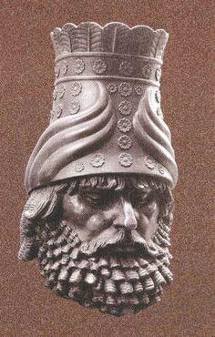 Assyrian Statues in Museums: Tiglath-Pileser, Assyrian King 745-727 BC