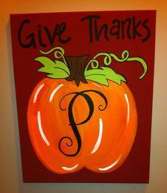Monogram Pumpkin on Etsy, $30.00