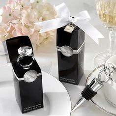 in leu of the napa wedding this is a cute favor idea! and it is something that people can actually use- would work well for an engagement party favor but i dont think you need favors for the engagement party!