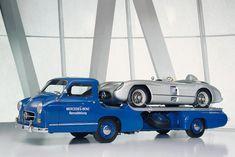 El Transporter para las Flechas de Plata, el camión ligero más veloz en 1955, alcanzaba los 170 km/h.