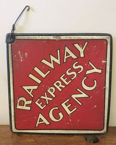 Vintage Railway Express Agency Double Sided Railroad Call Card Cardboard Sign  | eBay