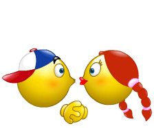 Animated GIF Emoticons | Animated Kissing Smiley Faces