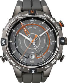Shop for Timex Men's Intelligent Quartz Adventure Series Tide Temp Compass Watch. Get free delivery On EVERYTHING* Overstock - Your Online Watches Store! Sport Watches, Cool Watches, Watches For Men, Men's Accessories, Fitness Accessories, Timex Watches, Men's Watches, Black Watches, Wrist Watches