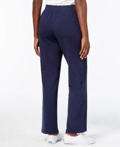 Karen Scott Petite Active Terry Drawstring-Waist Pants, Created for Macy's - Black P/XS