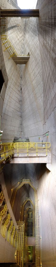 "ITAIPU DAM, PARANA RIVER. Hollow structures inside the dam called ""cathedrals"" by Itaipu guides. Photo by Martin St-Amant."
