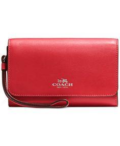 COACH Boxed Phone Clutch in Calf Leather | macys.com