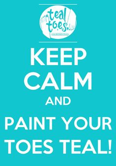 Sept is coming up fast! Paint those twinkle-toes teal for the month of September in support gyn cancer