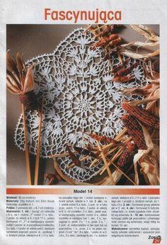 "Photo from album ""Robotki Reczne extra - - on Yandex. Japanese Crochet Patterns, Crochet Doilies, Album, Knitting, Handmade, Gifts, Yandex Disk, Gallery, Picasa"