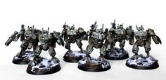 Showcase: Tau XV8 Crisis Battlesuit Team